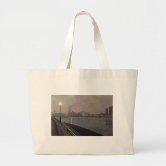 Chelsea Power Station by Night Large Tote Bag