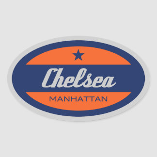 Chelsea Oval Sticker