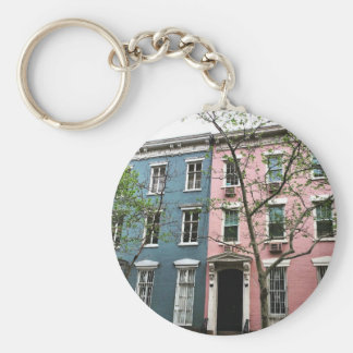 Chelsea Townhouses, NYC Keychain
