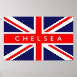 Chelsea UK Flag Poster