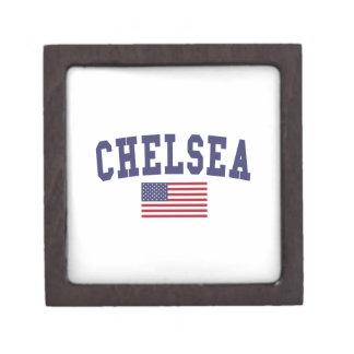 Chelsea US Flag Keepsake Box