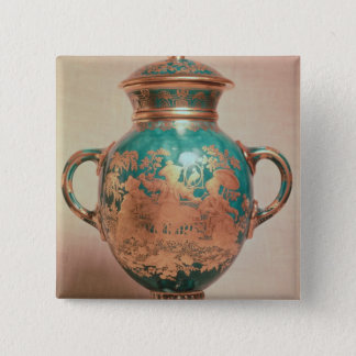 Chelsea vase and lid with gilt chinoiserie button