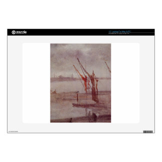 """Chelsea Wharf Grey and Silver by James McNeill Decals For 15"""" Laptops"""