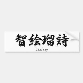 Chelsey translated into Japanese kanji symbols. Bumper Sticker