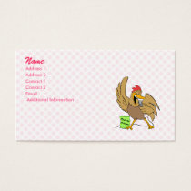 Chelvis Chicken Business Card