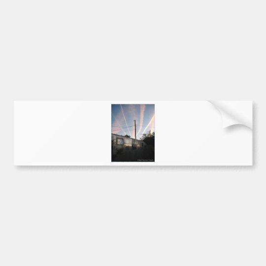 Chem Trailer Trash Bumper Sticker