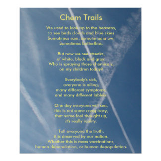 Chem Trails Poem and Please poster