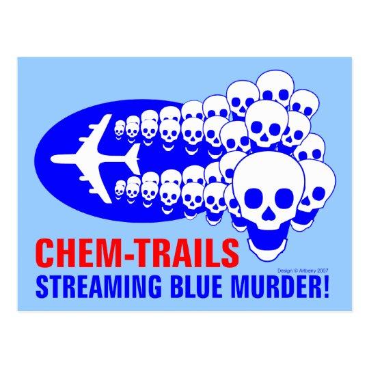 Chem Trails Postcard