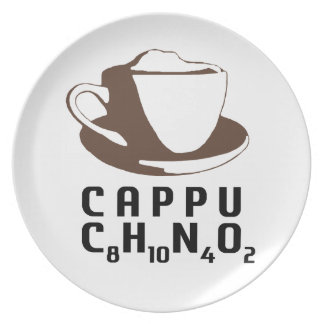 Chemical Cappuccino Dinner Plate