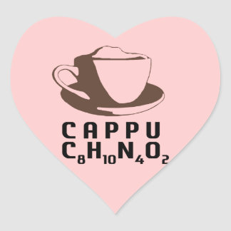 Chemical Cappuccino Heart Sticker