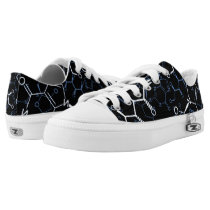 Chemical Chemistry Symbols Background Pattern Low-Top Sneakers