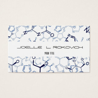 Chemical Chemistry Symbols Business Card Template
