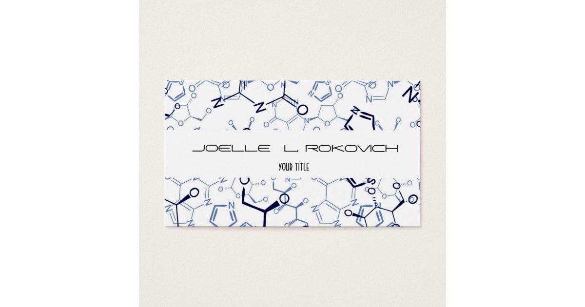 Chemical Chemistry Symbols Business Card Template | Zazzle.com