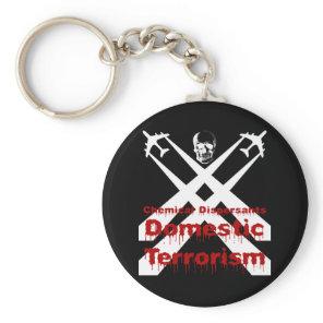 Chemical Dispersants areTerrorism dark background Keychain