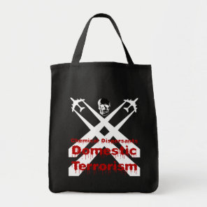 Chemical Dispersants areTerrorism dark background Tote Bag