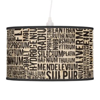 Chemical Elements Ceiling Lamp