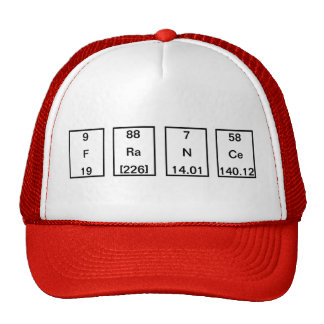 Chemical Elements: Fluorine Radium Sodium Cerium Trucker Hats