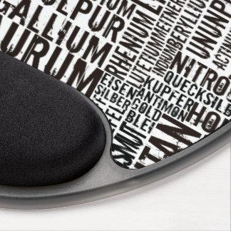 Chemical Elements Gel Mousepad