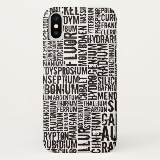 Chemical Elements... iPhone X Case