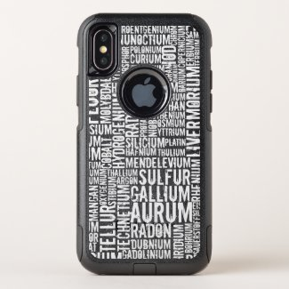 Chemical Elements - OtterBox Commuter iPhone X Case