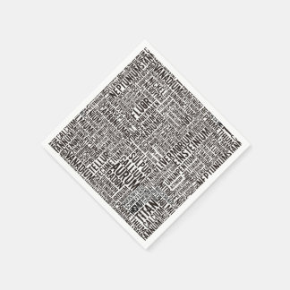 Chemical Elements Paper Napkin