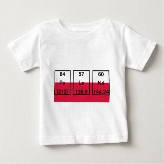 Chemical Elements: Polonium, Lanthanum, Neodymium Baby T-Shirt
