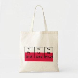 Chemical Elements: Polonium, Lanthanum, Neodymium Tote Bag