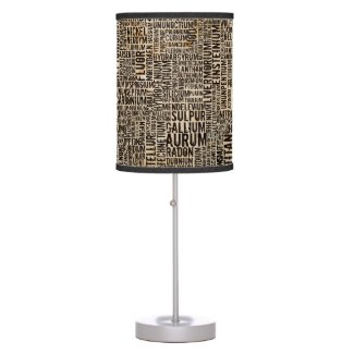 Chemical Elements Table Lamp