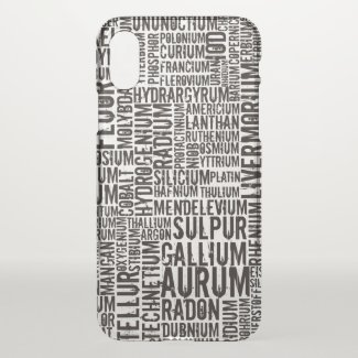 Chemical Elements - iPhone X Case