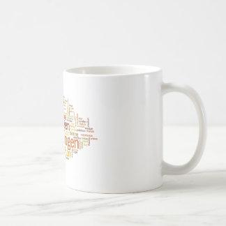 Chemical Elements Word Cloud Coffee Mug