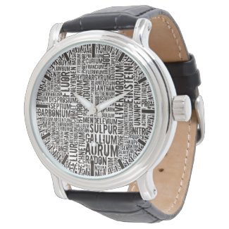 Chemical Elements Wrist Watch