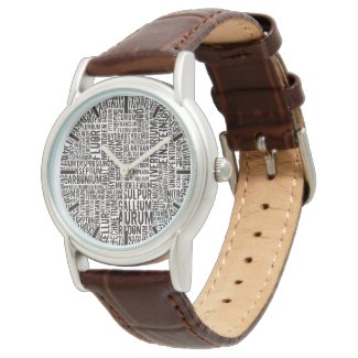 Chemical Elements Wristwatch