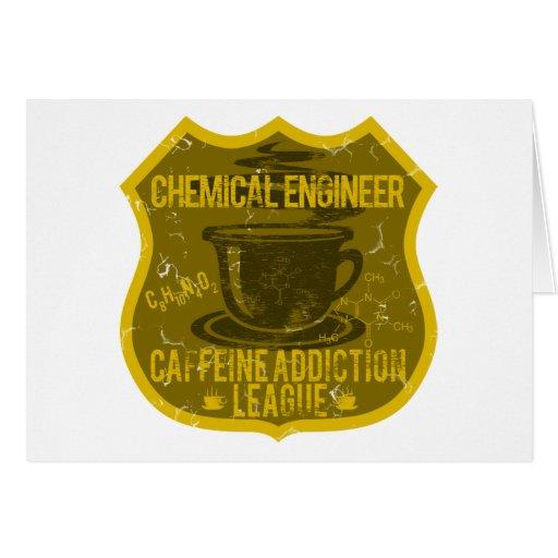 Chemical Engineer Caffeine Addiction League Card