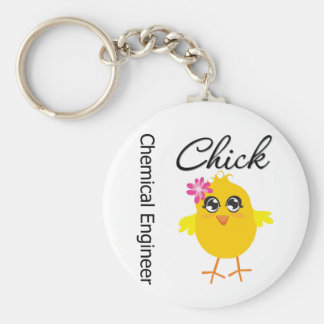 Chemical Engineer Chick Basic Round Button Keychain