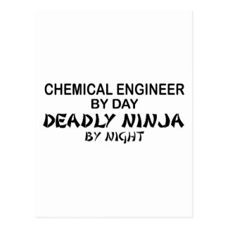 Chemical Engineer Deadly Ninja by Night Postcard