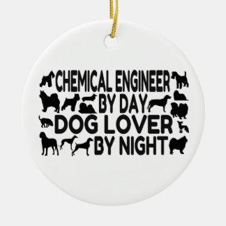 Chemical Engineer Dog Lover Ceramic Ornament