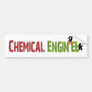 Chemical Engineer (EnginGEEK) Funny Gifts Bumper Sticker