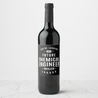 Chemical Engineer Gift Wine Label