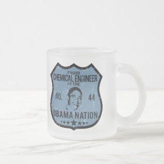 Chemical Engineer Obama Nation 10 Oz Frosted Glass Coffee Mug