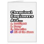 Chemical Engineer Quiz...Joke Greeting Card