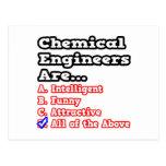 Chemical Engineer Quiz...Joke Post Card