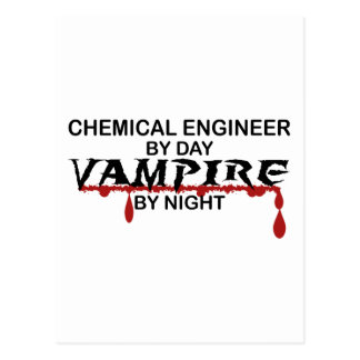 Chemical Engineer Vampire by Night Postcard