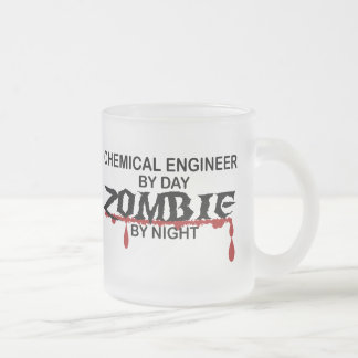 Chemical Engineer Zombie 10 Oz Frosted Glass Coffee Mug