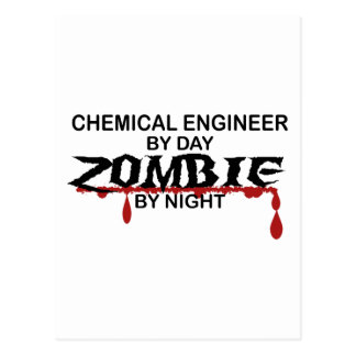 Chemical Engineer Zombie Postcard