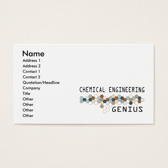Chemical Engineering Genius Business Card