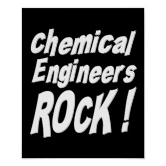 Chemical Engineers Rock! Poster Print
