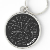 Chemical Formula Chemistry Gifts Personalized Keychain