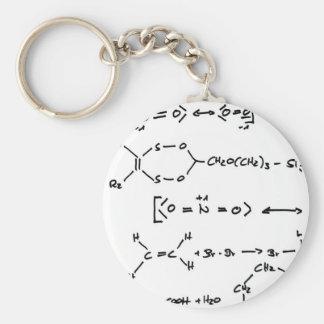 Chemical formula basic round button keychain
