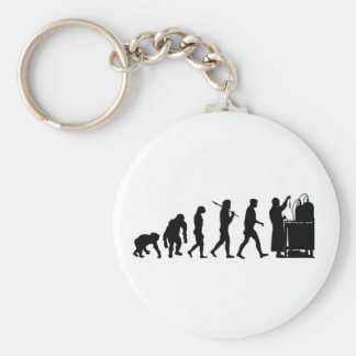 Chemical formula researchers Chemistry Gifts Basic Round Button Keychain
