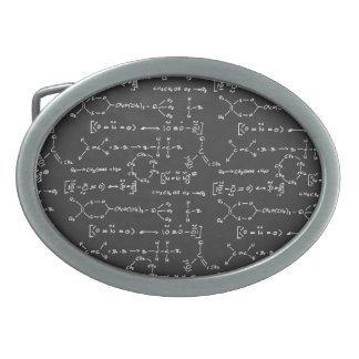 Chemical formula writing oval belt buckles